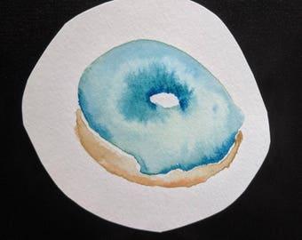 blue glazed donut