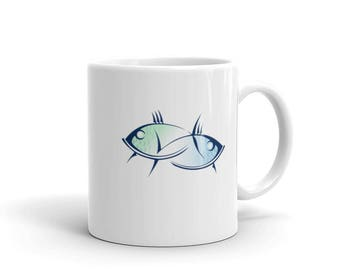 Pisces Coffee Mug, Zodiac Sign for February or March, Astrological Sign