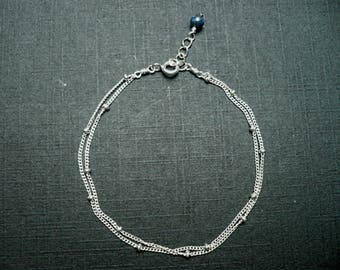 Silver delibulle bracelet / lapis lazuli