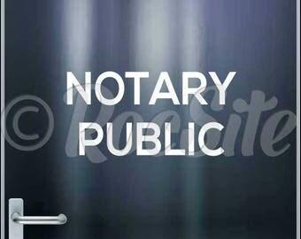 Notary Public Vinyl Decal