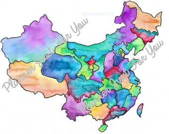 China Watercolor Printable