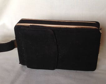 Black Suede Clutch