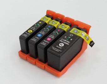 4pcs Compatible Lexmark LM100XL 100XL Ink Cartridge for Lexmark Pro 205 705 805 905