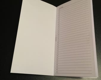 Traveller Notebook Standard Size prompt pages for #rockyourhandwriting
