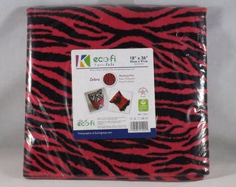 "Pink & Black Zebra - Kunin Group eco-fi Fancifelt - 18"" x 36"""