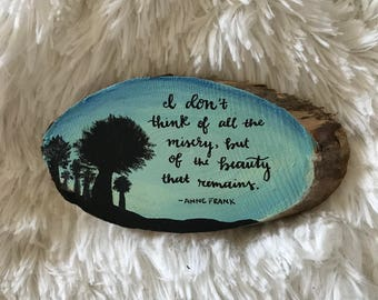 Small Painted Wood Slice