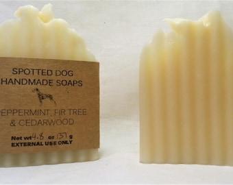 Peppermint, Fir Tree, and Cedarwood Essential Oil Bar Soap
