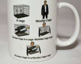 The Nicolas Cage in a Nicolas Cage Cage Mug