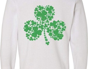 Glitter Clover St. Patrick's Day Zip-Up