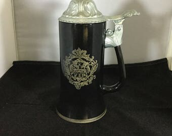 Princess House VIP Beer Stein with Pewter Lid