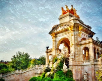 Barcelona Photography, Barcelona Wall Art, Travel Photography, Barcelona Home Decor, Parc de la Ciutadella