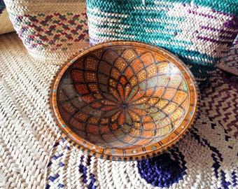 Bowl,handmade pottery,clay bowl,home decor,Arabic,multicolored,ceramic