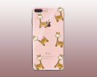 Giraffe Clear TPU Phone Case for iPhone 8- iPhone 8 Plus - iPhone X - iPhone 7 Plus-iPhone 7-iPhone 6-iPhone 6S-Samsung S8