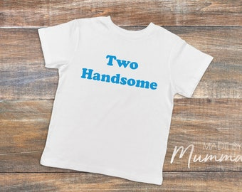 Two Handsome, Second Birthday, Two, Custom Children's T-Shirt