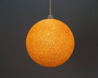"""1960's Gold """"Crystaline"""" Lucite Ceiling Globe"""