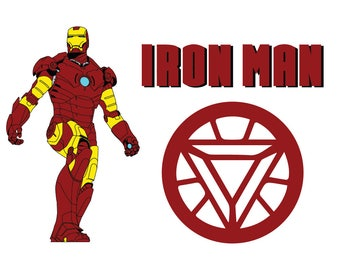 Iron man SVG, Superhero svg,Ironman Clip Art, Iron man logo svg,png,jpg,eps,Digital Download for Silhouette Cameo or Cricut, vector, clipart