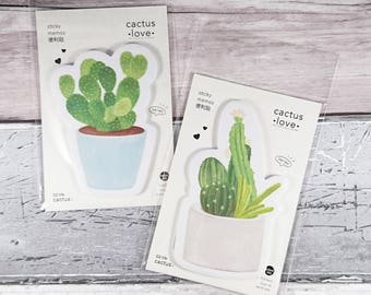 Cactus Memo Pad ~ Sticky Notes ~ Cacti ~ Succulents ~ Memo Stickers ~ Note Pad