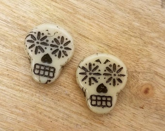 Day of the Dead Skull Bead