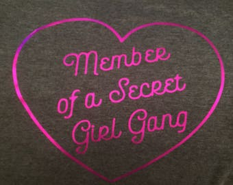 Secret Girl Gang hoodie/tee/vest