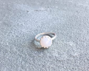 Eloise Ring with Light Blue Chalcedony