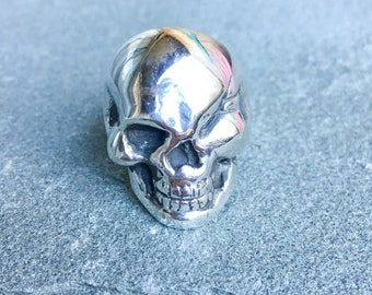 Sterling Silver Winking Douche Skull Ring