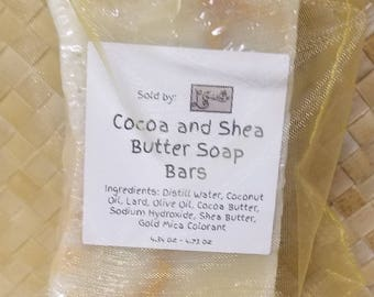 Cocoa Butter and Shea Butter Soap Bars