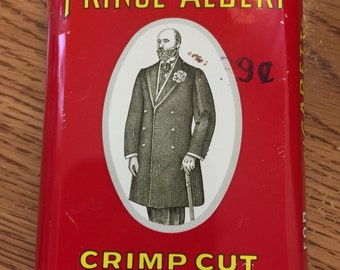 Prince Albert Tobacco Tin w/knife offer inner paper, 1970s,  FREE SHIPPING USA