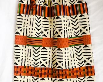 African kente print  dress