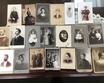 Lot of 20 Cabinet Photos #1
