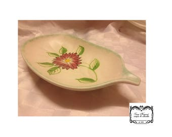 Radford E, Hand signed, Hand painted pickle dish, Excellent condition.