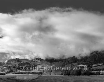 Mountain's Doorstep in Black and White