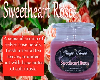 Sweetheart Roses Scented Jar Candle (16 oz.)!