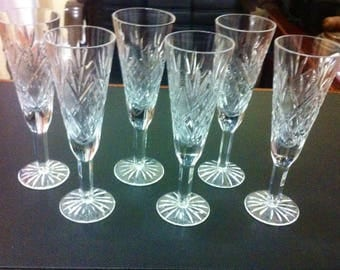 Czech Bohemia crystal champagne glasses