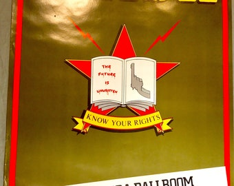 The CLASH vintage poster, Know your rights, West Hartford CT, Ballroom, vintage poster, the Clash, mint condition