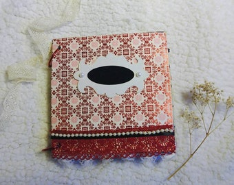 Mini Album Scrapbook Valentine red and black theme
