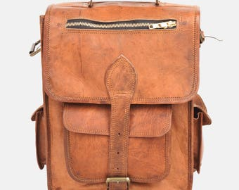 "15"" Brown Vintage Style Leather Laptop Backpack for Men and Women - Gonzalez"