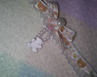 Kawaii Rilakkuma Lace White Choker