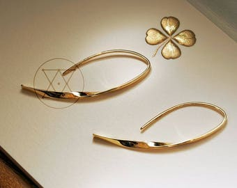 Möbius strip Eternity 18K SOLID gold Minimalism earrings