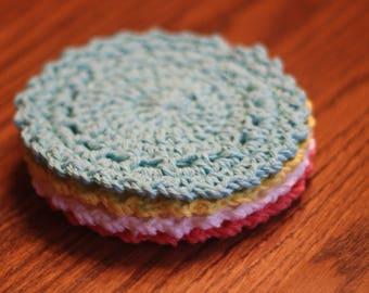 Sunburst Coasters, Set of 4 Cotton Coasters