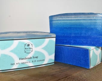 Mermaid Ombre Soap approximately 4 oz