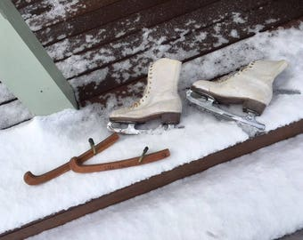 Vintage ice skates from the 1950s