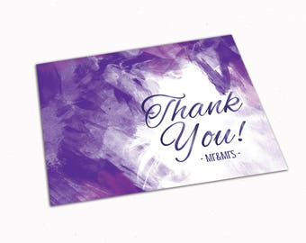 Thank You Card Thank You Greeting Thank You Digital Thank You Printable Wedding Thank you elegant Personalized Thank you card Note card