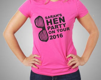 Hen Tshirts - Hen Party On Tour