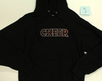 Cheer Rhinestone Hoodie Sweater