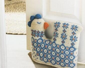 Knitted Doorstop Chicken, Pattern