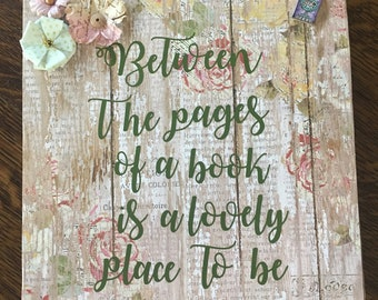 Between the Pages of a Book sign