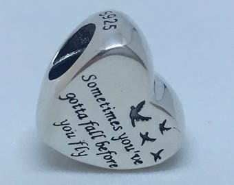 Authentic New Pandora charm heart of freedom #791967