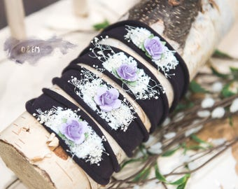 Lavender Rose Plum Tieback