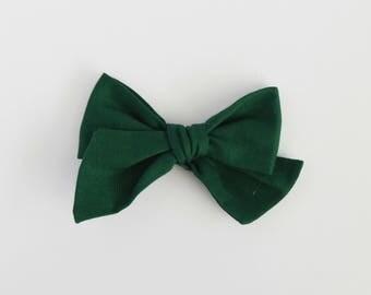 Fir // Dark Green Handmade Alice Bow