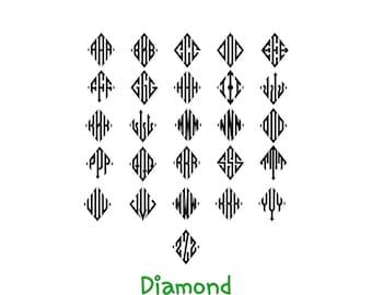 Diamond Monogram Decal